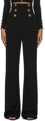 Balmain Black Corset 6-Button Trousers