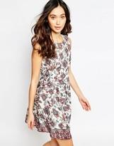 Iska Skater Dress in Paisley Floral Print