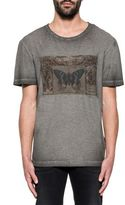 Valentino Gray Butterfly Print T-shirt