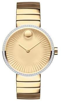 Movado Edge Diamond& Goldtone Stainless Steel Bracelet Watch