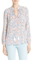 Derek Lam 10 Crosby Women's Print Silk Blouse