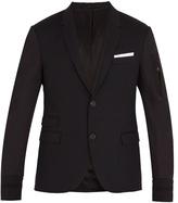 Neil Barrett Contrast-sleeved wool-blend jacket