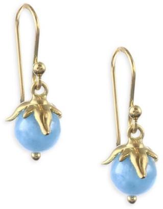 Annette Ferdinandsen Flora Natural Aquamarine & 18K Yellow Gold Berry Earrings
