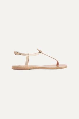 Ancient Greek Sandals Lito Metallic Leather Sandals - Gold