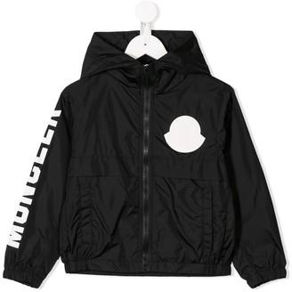 Moncler Enfant Logo Hooded Rain Jacket