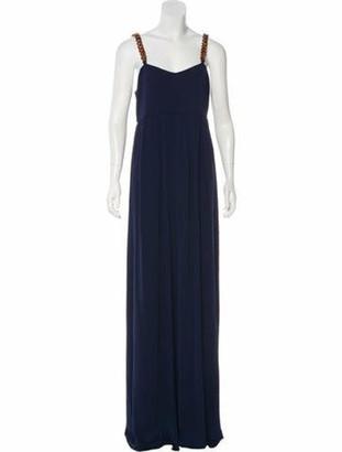 Tory Burch Chain-Link Maxi Dress w/ Tags blue