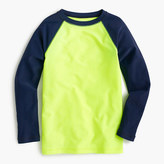 J.Crew Boys' rash guard in neon baseball