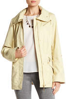 Ellen Tracy Chintz Zip Up Anorak