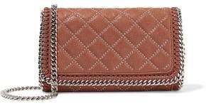 Stella McCartney Studded Quilted Faux Brushed-leather Shoulder Bag