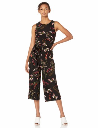 Tommy Hilfiger Women's Printed Jersey Cropped Jumpsuit