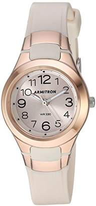 Armitron Sport Women's 25/6418PBH Easy To Read Rose Gold-Tone and Blush Pink Resin Strap Watch
