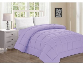 Elegant Comfort Celine Line High Quality Double-Filled Comforter Twin/Twin XL , Lilac