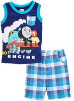 Children's Apparel Network Thomas the Tank Engine Navy Tank & Plaid Shorts - Toddler