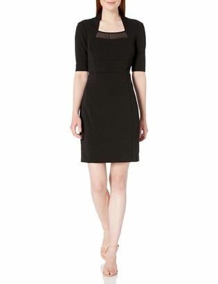 Lark & Ro Women's Half Sleeve Sheath Dress with Chiffon