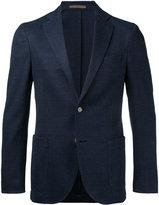 Eleventy geometric pattern blazer - men - Cotton/Linen/Flax/Polyamide/Polyester - 46