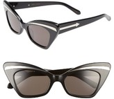 Karen Walker Women's Babou 50Mm Sunglasses - Black/ Silver