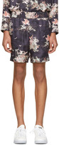 Marc Jacobs Navy Silk Japanese Shorts