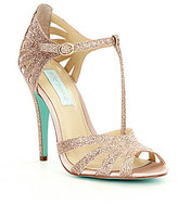 Betsey Johnson Blue by Tee Glitter Dress Sandals