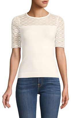 Milly Textured Short-Sleeve Top