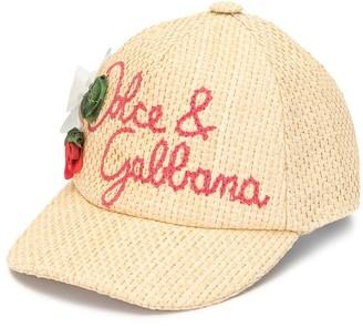 Dolce & Gabbana Kids Woven Logo Cap
