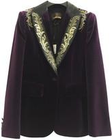 Roberto Cavalli Purple Velvet Jacket for Women