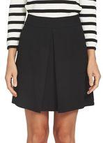 CeCe Moss Crepe Invert Pleat Skirt