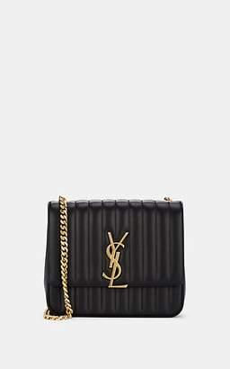 Saint Laurent Women's Monogram Vicky Large Leather Chain Bag - Black