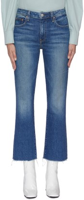 TRAVE 'Colette' raw hem cropped flared jeans