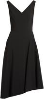 Osman Elizabeth asymmetric-hem crepe dress