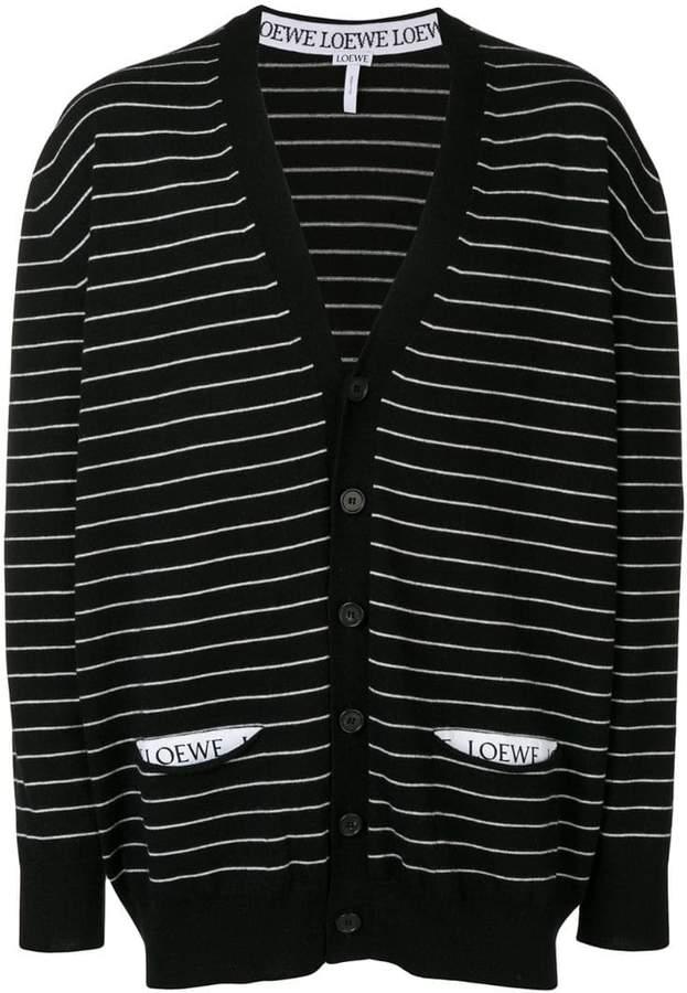 Loewe oversized striped cardigan