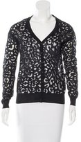 Anne Fontaine Sheer Leopard Cardigan w/ Tags