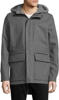 Zanerobe Men's Atlas Melton Hooded Wool Jacket