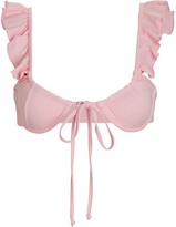 Thumbnail for your product : Frankie's Bikinis Birdie Ruffled Bikini Top