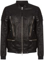 Allsaints Allsaints Sanderson Leather Bomber Jacket