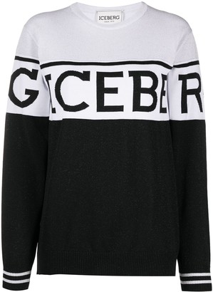Iceberg Panelled Logo Knit Jumper