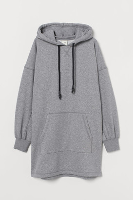 H&M Hooded Sweatshirt Dress - Gray