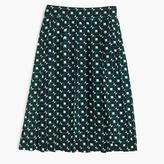 J.Crew Tall double-pleated midi skirt in shadowbox print