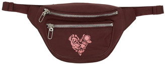 Kenzo Burgundy Limited Edition Valentines Day Mini Lucky Star Belt Bag