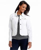 Charter Club Jacket, Denim, White Wash