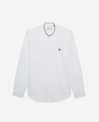 The Kooples White shirt with officer collar, contrasting