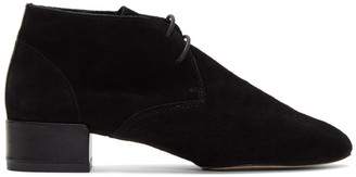 Repetto Black Suede Ivan Boots