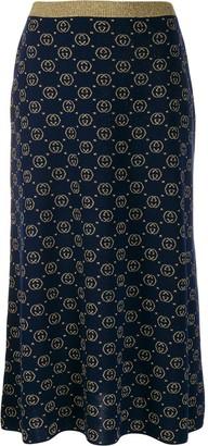 Gucci interlocking G knit skirt