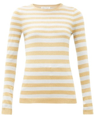 Bella Freud Striped Metallic Sweater - Womens - Silver Gold