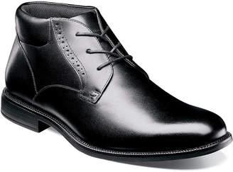 Nunn Bush Mens Nantucket Plain Toe Chukka Boots Flat Heel Lace-up