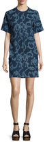 Rag & Bone Esmond Laser-Cut Cotton Dress, Indigo
