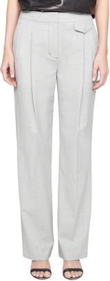 3.1 Phillip Lim Wool Chambray Wide-Leg Trousers
