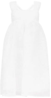 Cecilie Bahnsen Pandora Pintucked Organza Midi Dress - White
