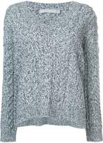 Vince v-neck cable knit jumper