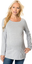 A Pea in the Pod Splendid Back Interest Maternity Pull Over