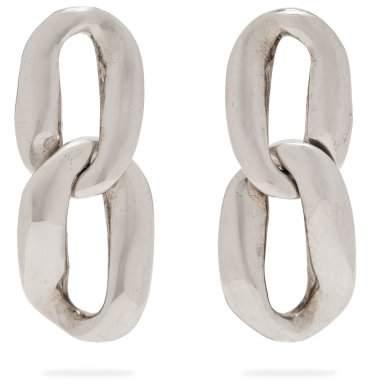 Saint Laurent - Chain Link Earrings - Womens - Silver